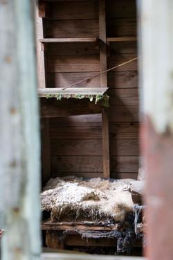 Inside shack close up 2