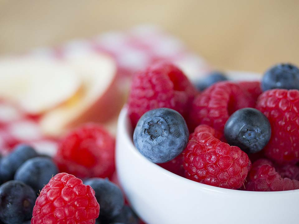 Berries with bowl