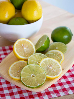 Lemon Lime slices with bowl