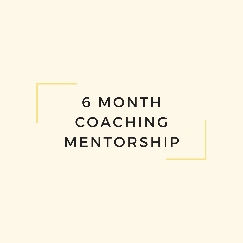 6 Month Coaching Mentorship