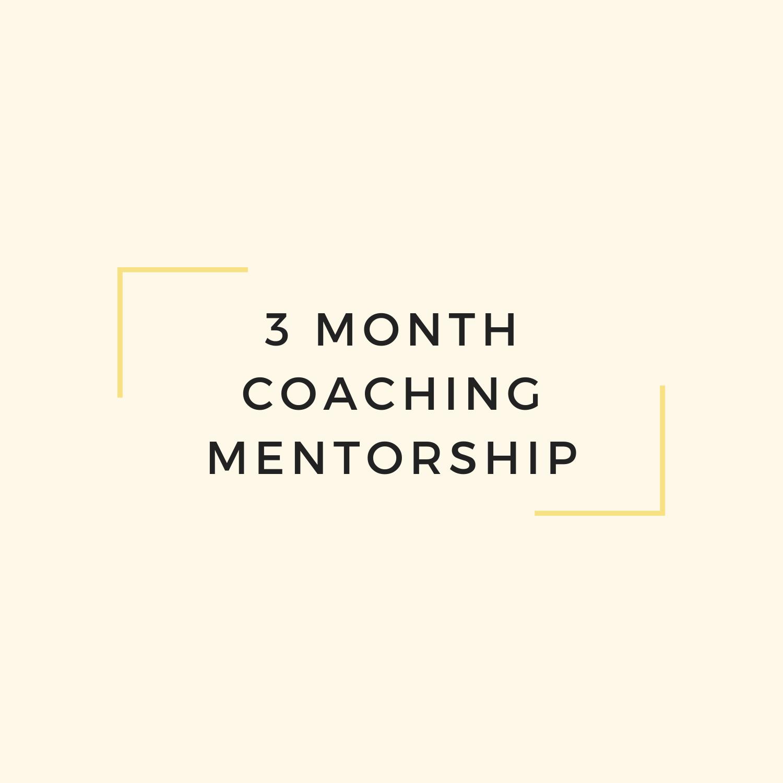 3 Month Coaching Mentorship