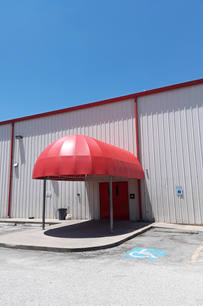 Canopies 39 Long Red elongated canopy sideways 4x6