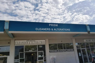 Flat Panel Awning 03 Prism Cleaners upside down 4x6