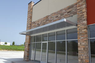 Overhead Support Canopy Metallic Silver