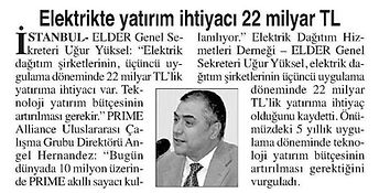 2015_12_14_Anayurt_Elektrikte Yatirim Ihtiyaci 22 Milyar Tl