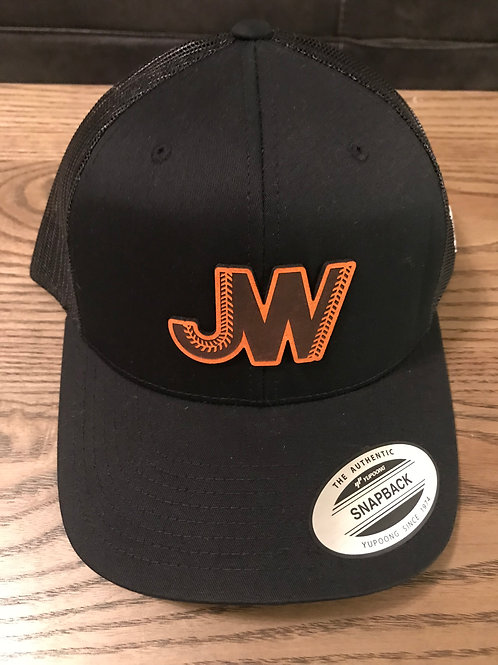 JW Leather Logo Hat Black/Dark