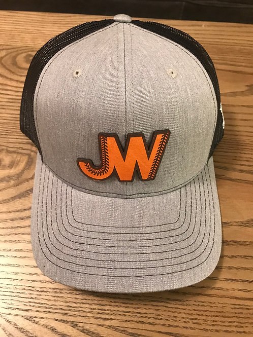 JW Leather Logo Hat Grey/Light