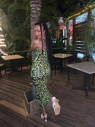 Leopard Lime Dress