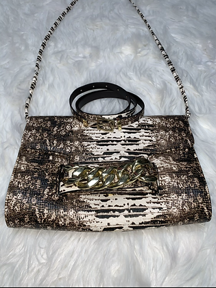 Snake skin fashion bag & belt