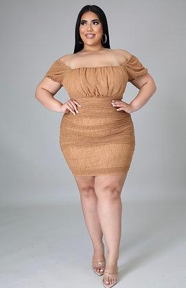 Mocha Mini Dress