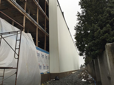 Wall with IMPs is right of Tyvek wrap