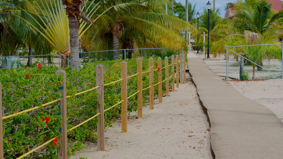 The famed Placencia Sidewalk, frontage on Lot #'s 6 & 12