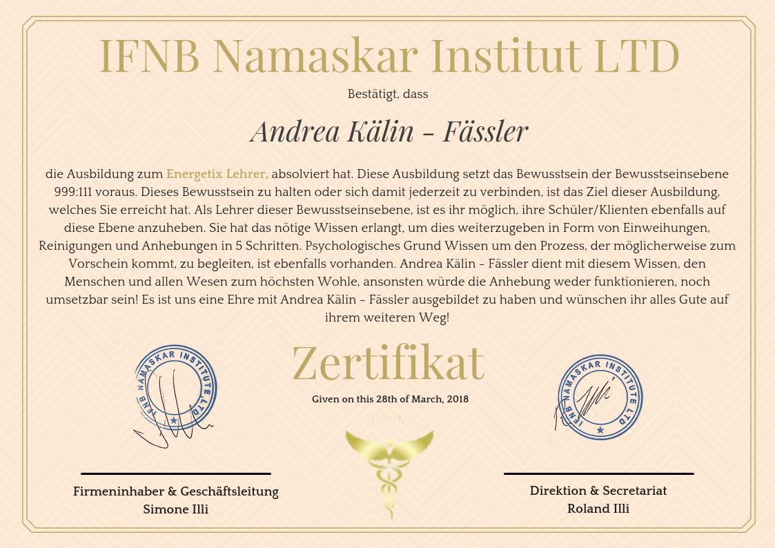 Zertifikat - Energetix