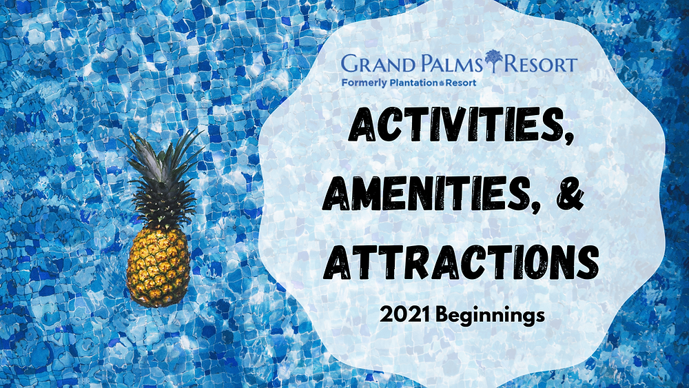 Enjoy activities, amenities, and attractions in Myrtle Beach during your vacation at Grand Palms Resort formerly Plantation Resort.