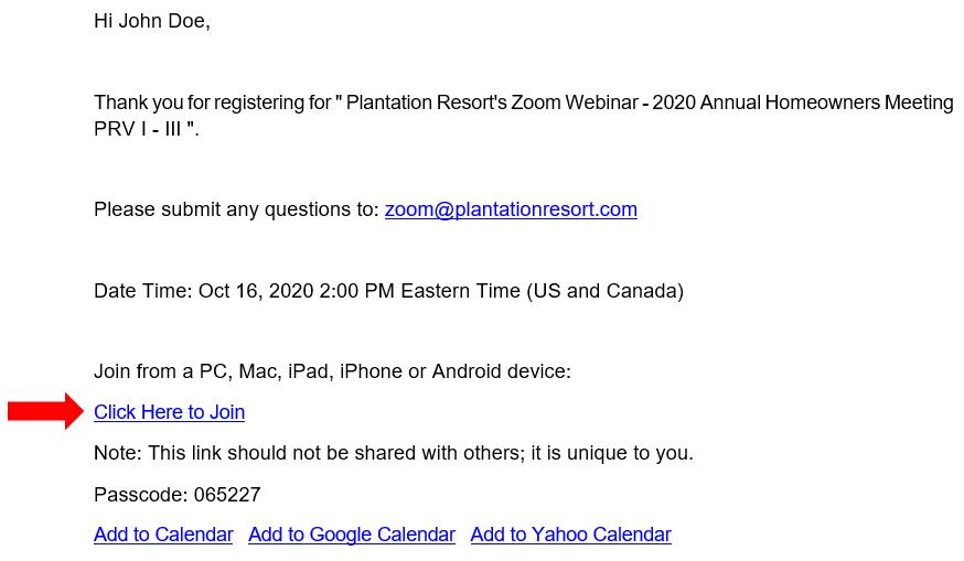 Join Grand Palms Resort formerly Plantation Resort's Zoom Webinar