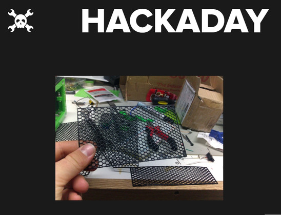 Hackaday picked up a few of my creative uses of the 3D printer for their blog. Linked here is a method I developed to quickly generate mesh material.