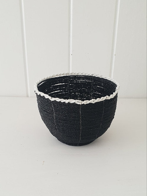 Beaded Basket Black
