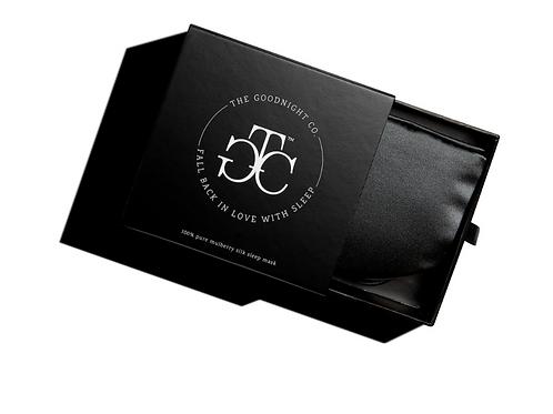 Silk Sleep Mask in a Gift Box CHARCOAL