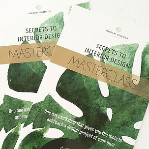 Our June Secrets to Interior Design Masterclass is FULL! Our next class is Sunday 21st Jul