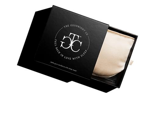Silk Sleep Mask in a Gift Box NUDE