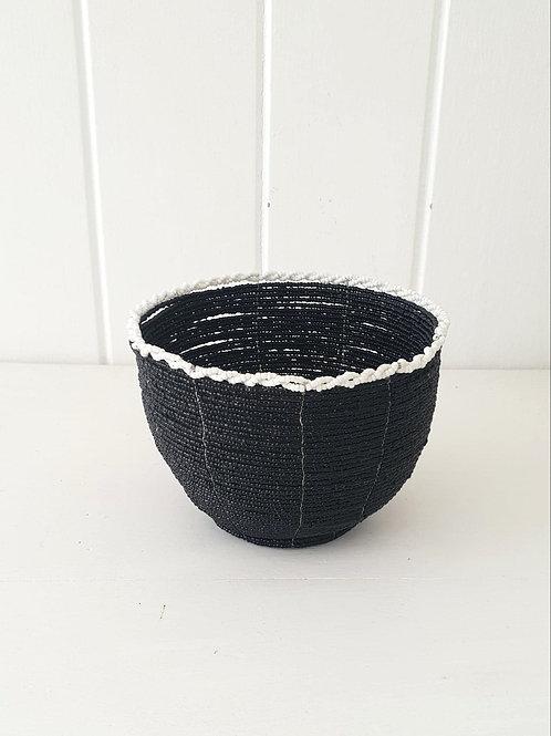 Beaded Basket Black or White