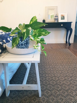 Add plants and decor pieces to the add a homely feel.