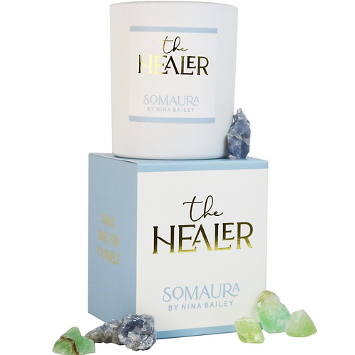 THE HEALER Soy & Quartz Candle by Nina Bailey