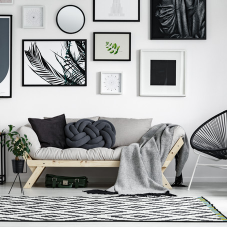 Keeping It Custom: Unique Wall Art for A Living Room
