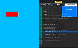 A screenshot of Blackbird School's debugger in use.