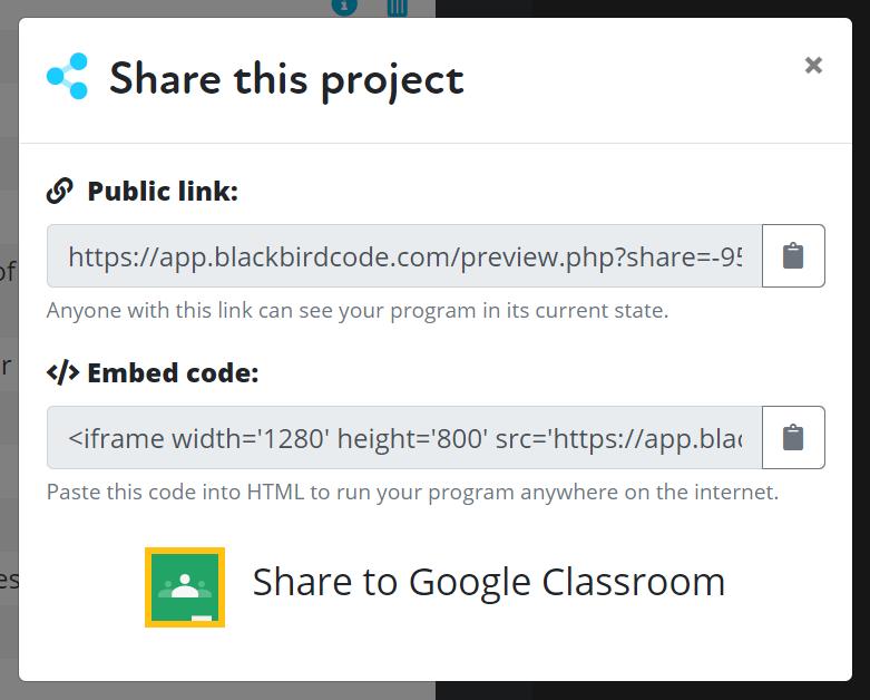 Screenshot of Blackbird app