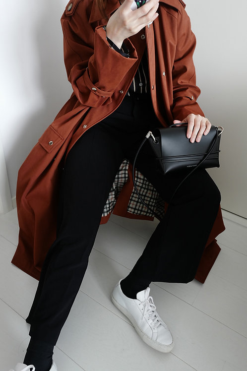 BROWN CLASSIC TRENCH COAT