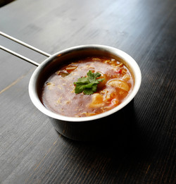 Bejing soup with chicken and shrimps