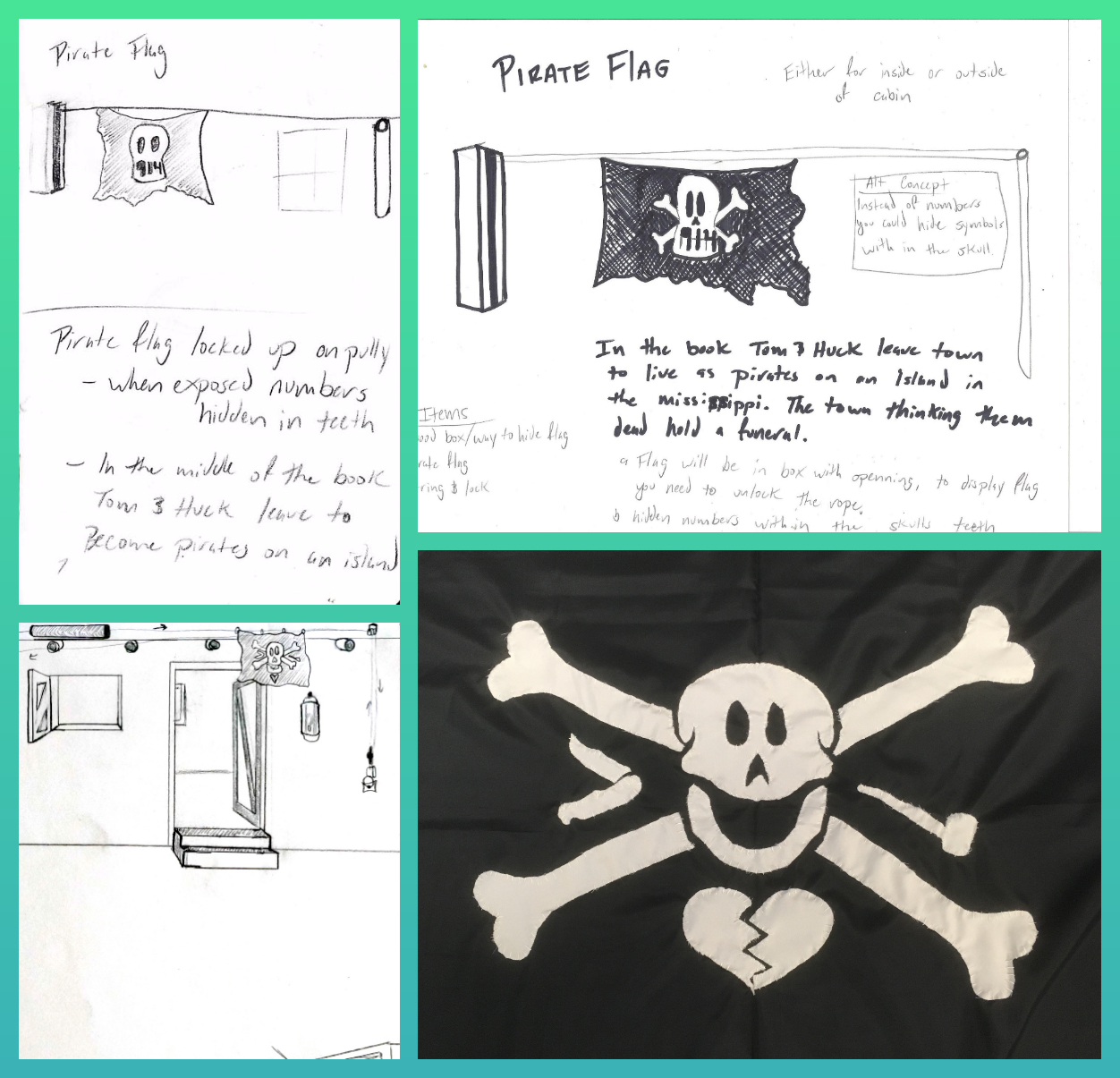 Pirate Flag Collage