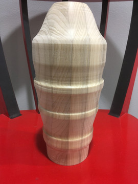 Wood turned on Lathe