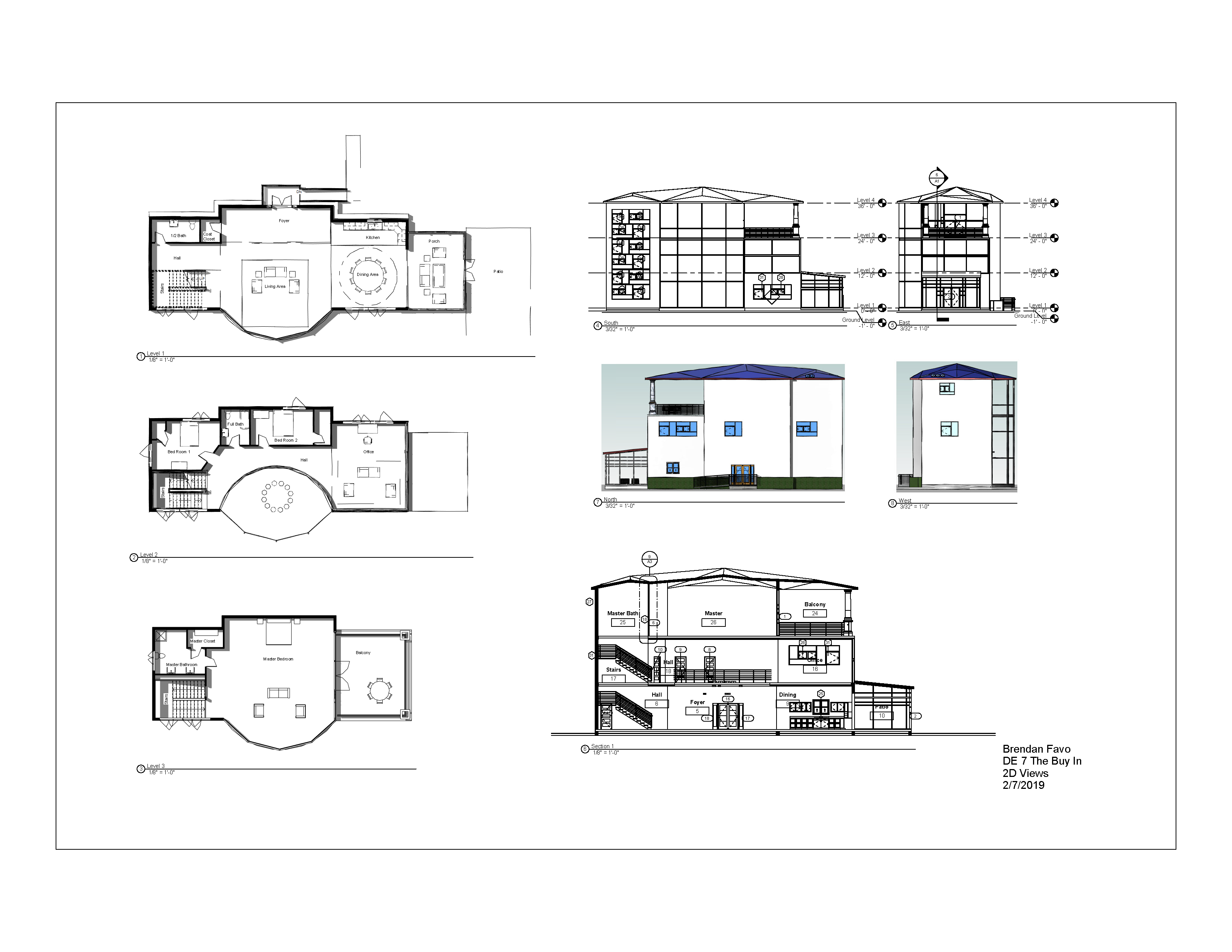 BFavo DE 7.1 - Sheet - A1 - 2D Views
