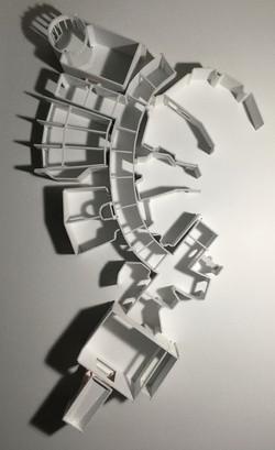 White foam model