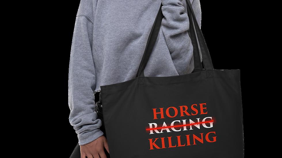 Horse Killing Organic Tote Bag