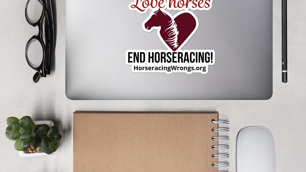 Love Horses Stickers