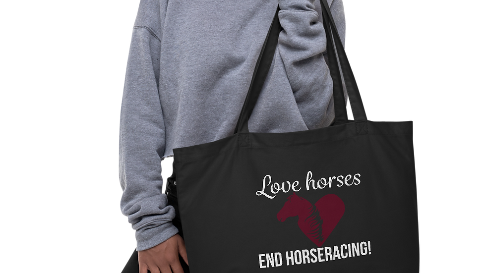 Love Horses Large Organic Tote Bag