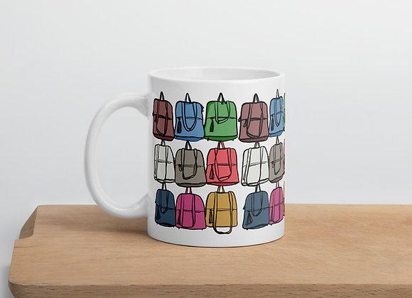 Florence Leather Market Purses Illustration Mug
