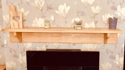Oak Mantle Shelf