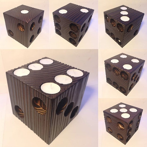 Wooden Candle Dice