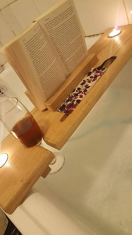 Bath Caddy With Book Rest