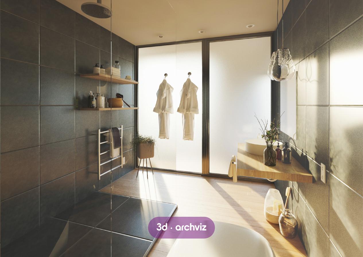 3d bath render