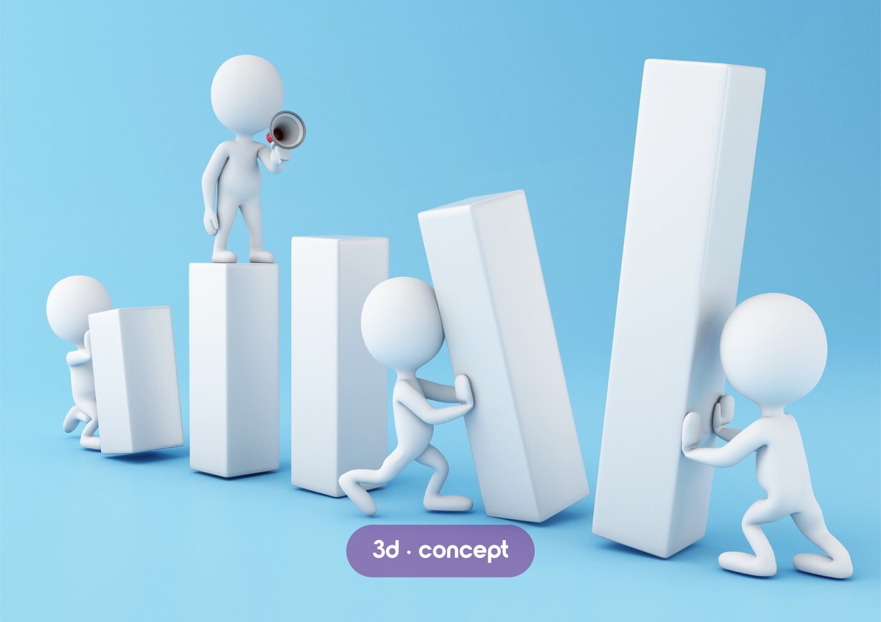 3d white people. Business render