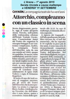 Giornale L'Arena 01.08.2015