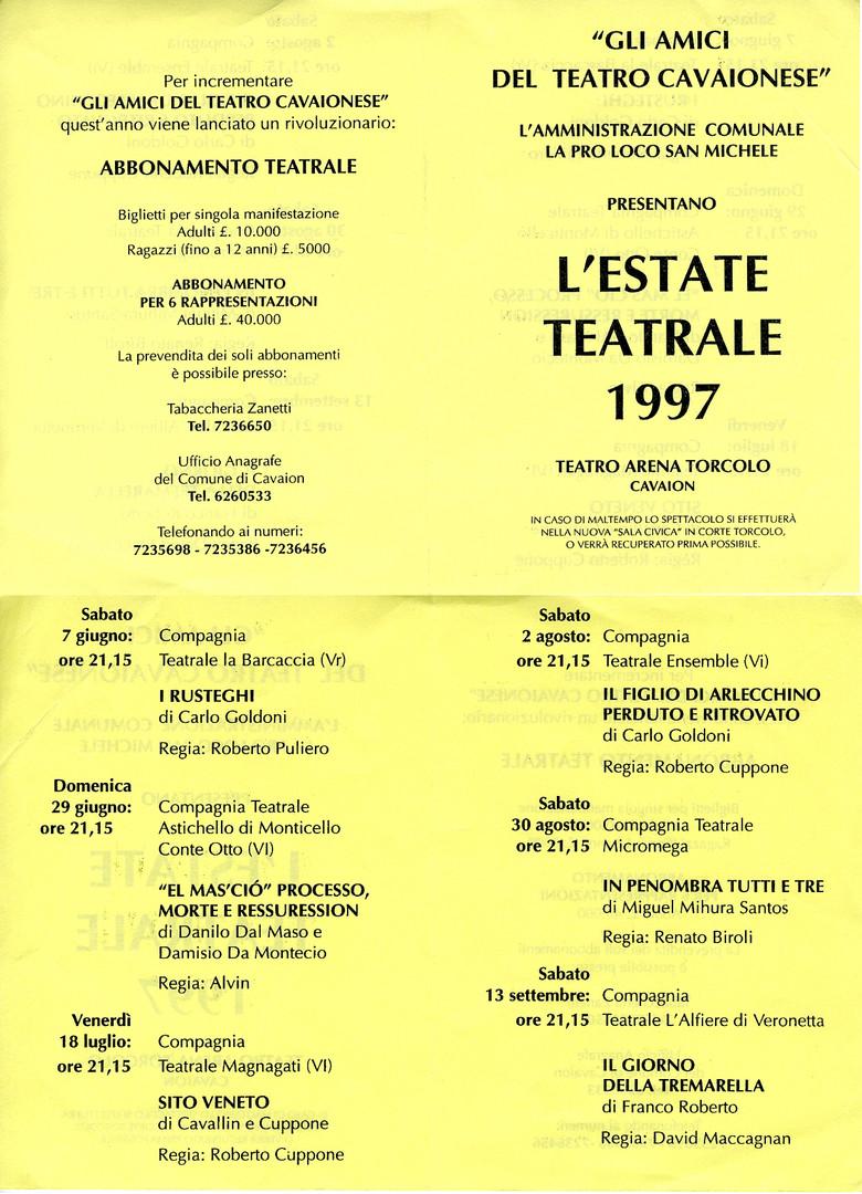 Estate Teatrale 1997