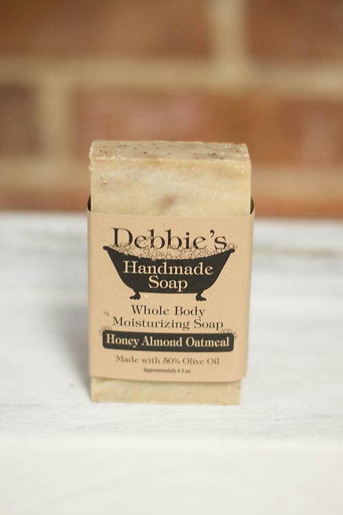 Honey Almond Oatmeal, Handmade Soap, 50% Olive Oil