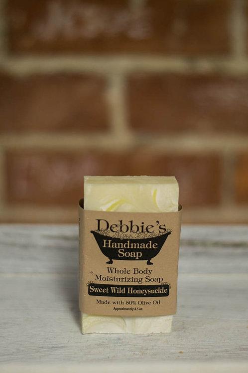 Sweet Wild Honeysuckle Soap, 50% Olive Oil Soap