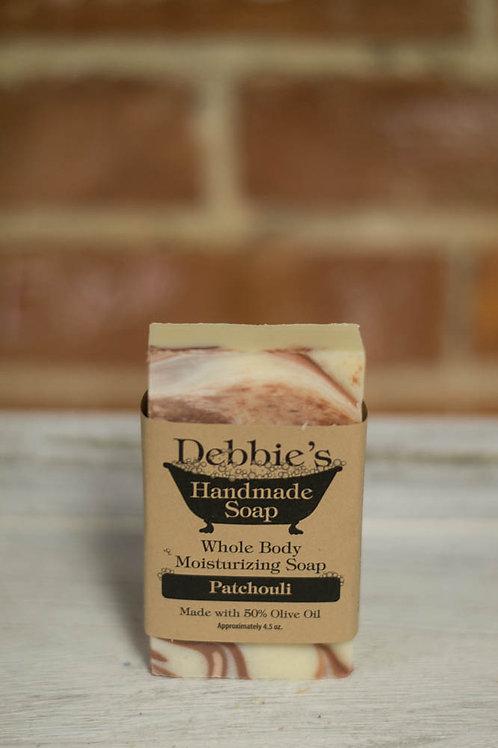 Patchouli, Handmade Soap, 50% Olive Oil
